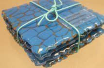 Crackle coasters
