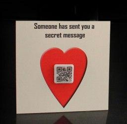 QR Valentine's card