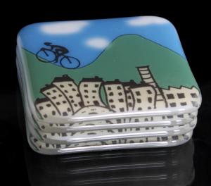 Hebden Bridge cyclists coasters