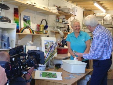John Craven in my studio
