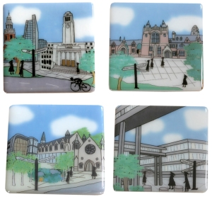 University of Leeds coaster set