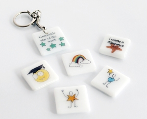 pebbles and keyrings
